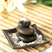 Hot Stone Massage. stone decorative pile